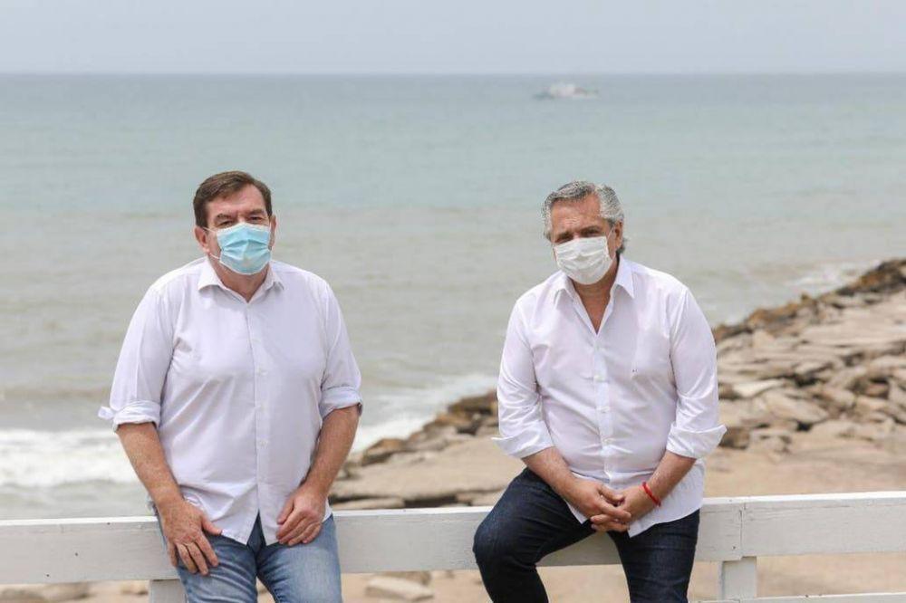 Medialunas, turismo y obras: el menú que Alberto Fernández compartió con el intendente de Mar del Plata