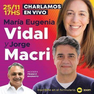 Ciclo de encuentros: Este miércoles Jorge Macri junto a María Eugenia Vidal