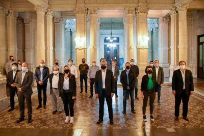 Intendentes del conurbano del FdT se reunieron con el ministro Ferraresi