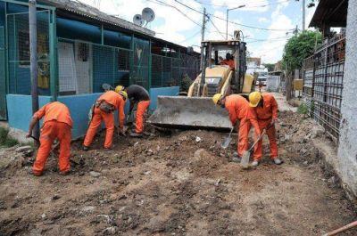 Avanza la reurbanización del barrio Villa Porá de Lanús