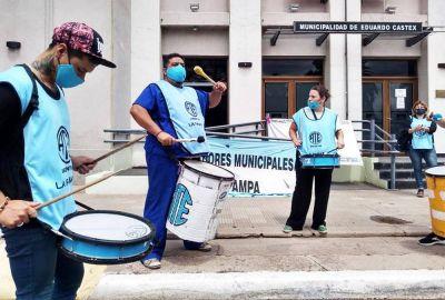 Castex: ATE protestó contra la precarización municipal
