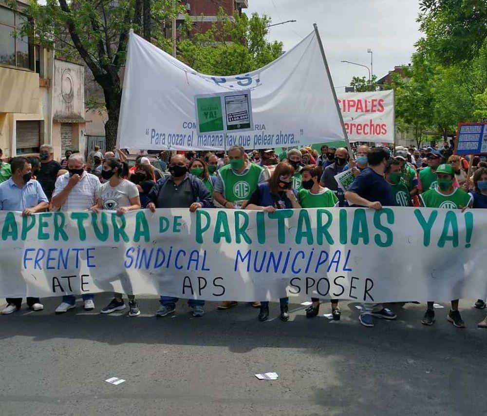 """El Frente Sindical Municipal realiza este jueves paro y movilización por la """"ruptura"""" de la paritaria"""