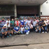 Por deudas salariales, paralizan el correo privado Sideco y llevan las protestas a la casa del dueño