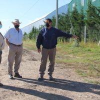 Sánchez recorrió distintas obras que se realizan en el distrito