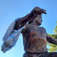 Los bahienses también le rinden homenaje a Diego Maradona