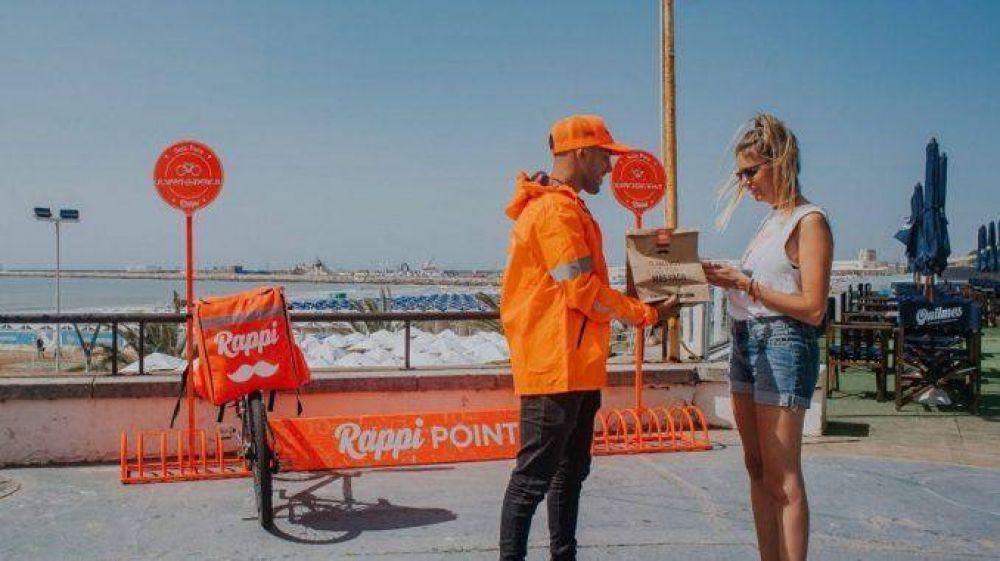 Paran repartidores de Rappi en Mar del Plata