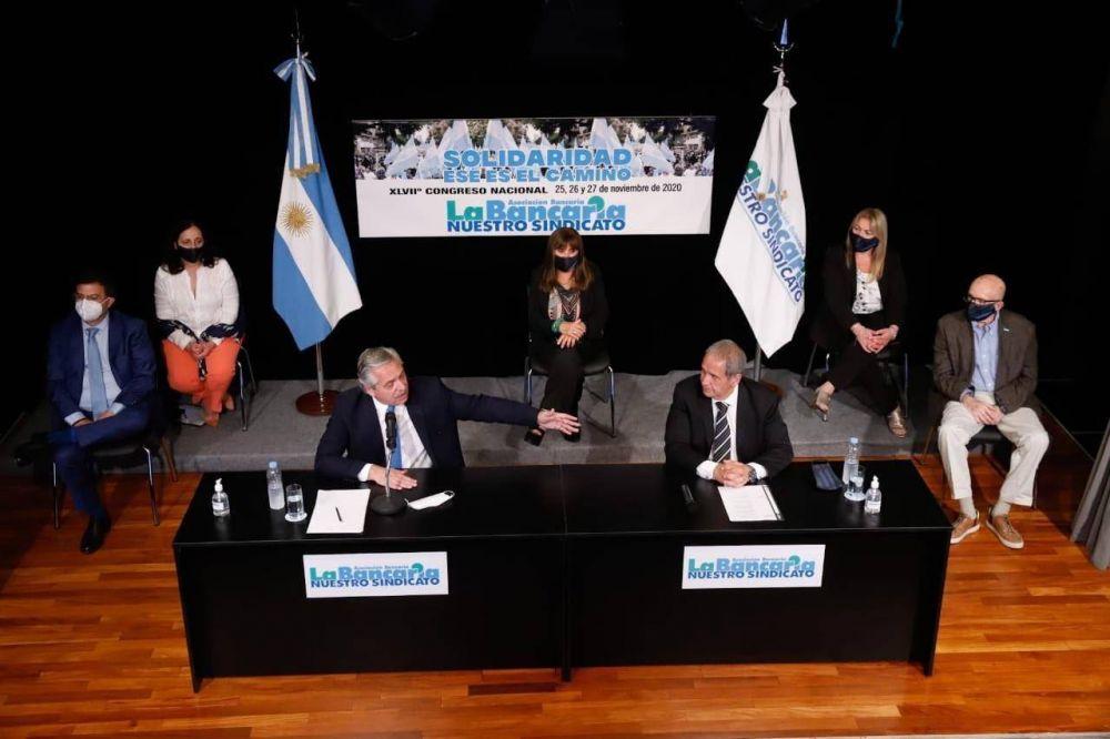 Bancarios le piden agenda progresista a Fernández y reclaman nuevo régimen tributario y el fin de Ganancias