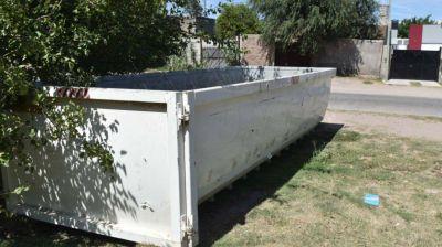 Bateas para deponer residuos voluminosos y restos de poda
