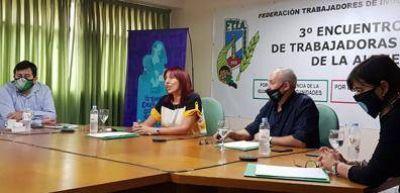 Tercer Encuentro Nacional de Trabajadoras de la Alimentación organizado por la FTIA
