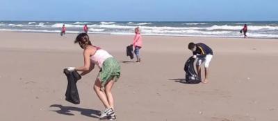 Reunieron 30 bolsas de residuos en la limpieza de playas