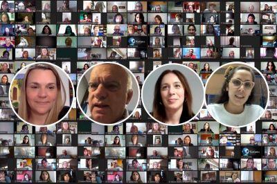 Grindetti compartió un encuentro virtual con Vidal