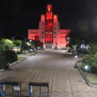 El Municipio se tiñó de rojo por el Día Mundial de la Lucha contra el Sida