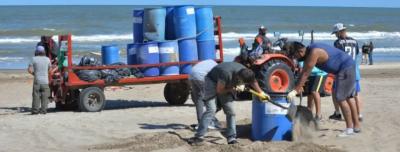 VILLA GESELL: Limpieza y cuidado de playas