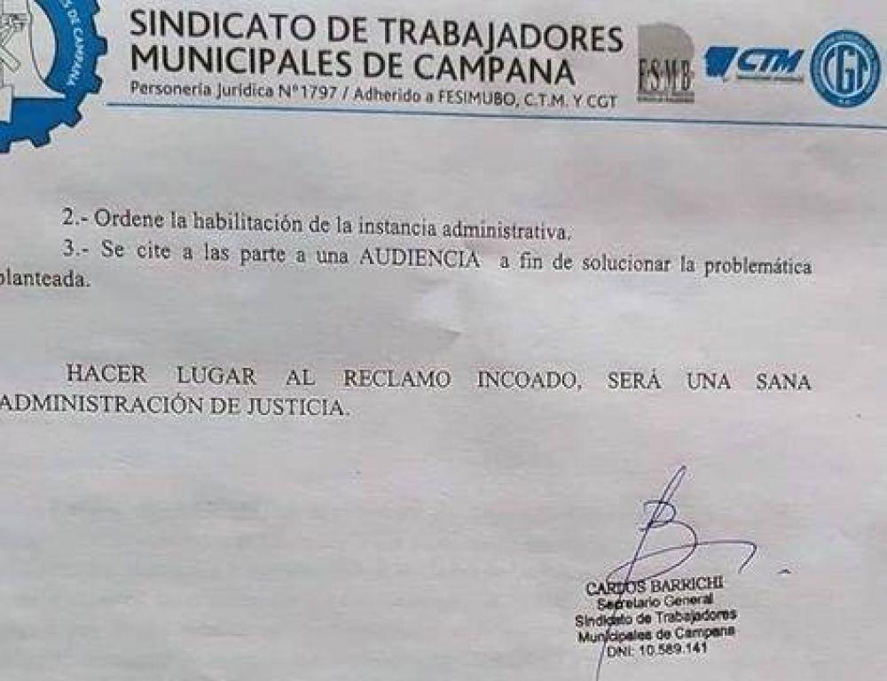 Dos nuevas denuncias contra el Municipio por parte del Sindicato
