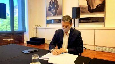Intendente Gray firmó un convenio de modernización digital con Santiago Cafiero