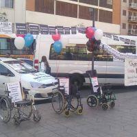 Transportistas de personas con discapacidad realizaron una jornada de protesta