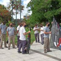 SATSAID se manifestó en Plaza San Martín en rechazo a un aumento salarial desdoblado