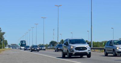 Tránsito intenso a la Costa Atlántica: más de 2700 autos por hora