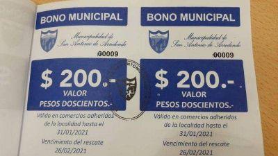 Municipales de Capilla del Monte recibirán un bono de compras