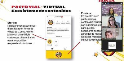 """El Municipio acompaña el programa """"Pacto Vial"""" de Honda Motor"""
