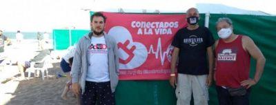 Villa Gesell: Electrodependientes tienen su lugar en la Playa Inclusiva