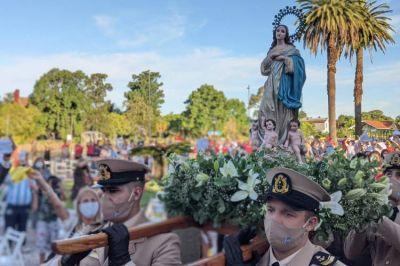 Tigre Celebró el Día de la Virgen con una ceremonia acotada pero no menos emotiva
