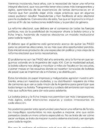 """Grindetti: """"Suspender las PASO sin discutir una reforma electoral integral es una picardía"""""""