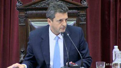 Sergio Massa fue reelegido como presidente de la Cámara de Diputados