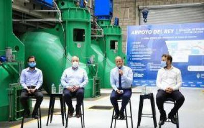 Lomas de Zamora: Insaurralde presentó finalización de la obra del Arroyo del Rey junto al presidente