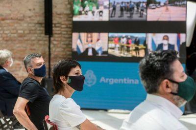 Mayra Mendoza acompañó a Alberto Fernández en la inauguración de obras