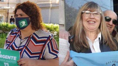 Aborto: contrapunto entre una referente verde y una celeste de Bahía Blanca