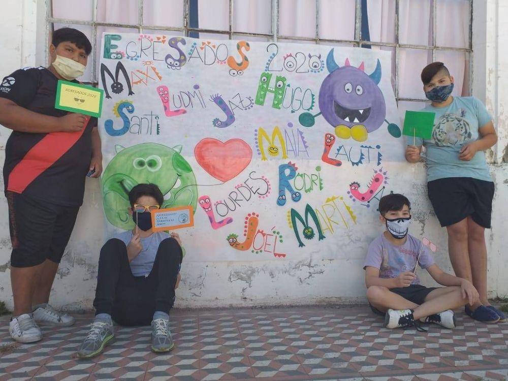 Alumnos de la EP Nº 2 tuvieron actividades presenciales en el colegio