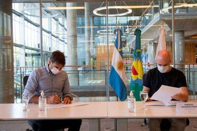 Manuel Passaglia firmó convenio con Larreta