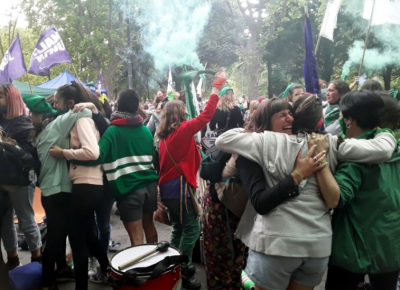 Los festejos en Mar del Plata por la media sanción en Diputados
