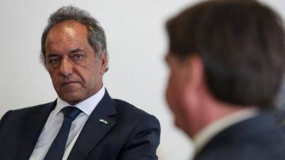 Scioli cree que si resuelve las tensiones con Brasil y acerca una vacuna volverá a estar en carrera