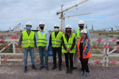 Malena Galmarini recorrió junto al Director del Banco Mundial y autoridades la mega obra Sistema Riachuelo