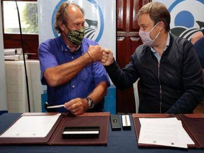 El intendente Cascallares firmó importante convenio con la Facultad de Ciencias Agrarias de la UNLZ
