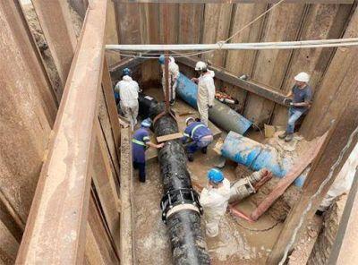 AySA finalizó con éxito una importante obra para mejorar el servicio de agua en Florencio Varela