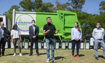 Con la presencia de Wado de Pedro se presentó el programa Hurlingham recicla
