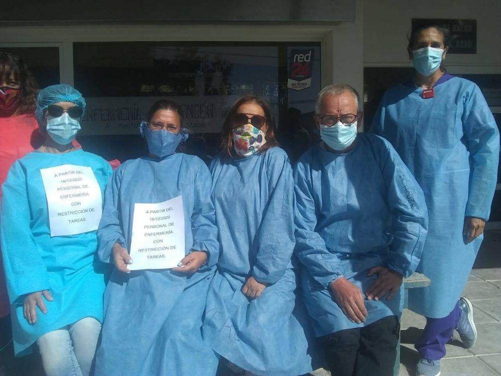 En Claromecó también se sintió el reclamo de enfermeros