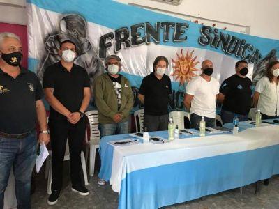 El Frente Sindical realizó un encuentro y expresó un fuerte apoyo a gremios intervenidos por Macri