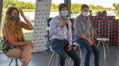 Juan Andreotti entregó nuevas máquinas y herramientas a productores isleños
