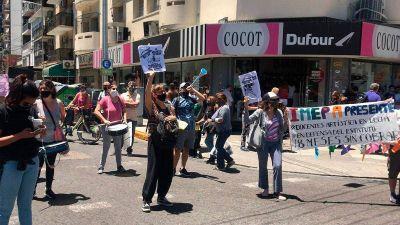 Protesta de docentes en Avellaneda