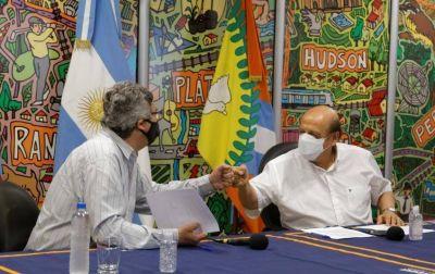 """Mussi y el ministro Rodríguez lanzaron la """"Mesa 2050"""" para el desarrollo productivo de El Pato"""