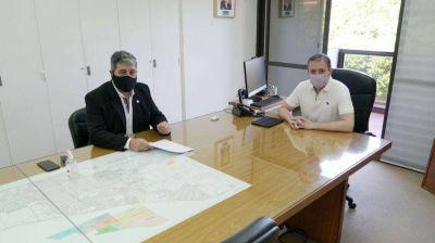 Gray se reunió con el presidente del Ente Regulador del Agua y Saneamiento