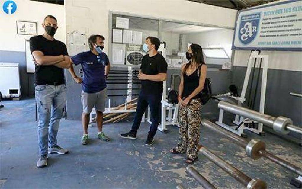 El intendente Alejo Chornobroff visitó diferentes instituciones deportivas de Avellaneda