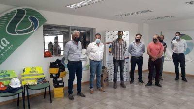 Recorrida oficial por la planta de separación de residuos del Girsu