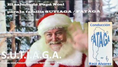 Video // Papá Noel saluda a la familia Sutiaga - Fataga