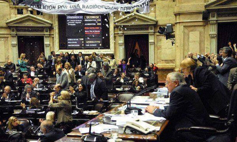 Ley de medios: la semana próxima conformarán la comisión bicameral