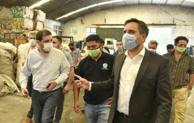 Moreira y Cabandié recorrieron espacios de reciclado en San Martín